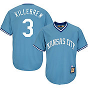 Majestic Men's Replica Kansas City Royals Harmon Killebrew Cool Base Light Blue Cooperstown Jersey