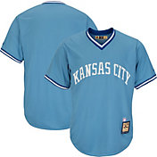Majestic Men's Replica Kansas City Royals Cool Base Light Blue Cooperstown Jersey