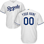 Majestic Men's Custom Cool Base Replica Kansas City Royals Home White Jersey