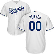 Majestic Men's Full Roster Cool Base Replica Kansas City Royals Home White Jersey