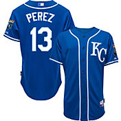 Majestic Men's Authentic Kansas City Royals Salvador Perez #13 Cool Base Alternate Royal On-Field Jersey