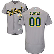Majestic Men's Full Roster Authentic Oakland Athletics Flex Base Road Grey On-Field Jersey