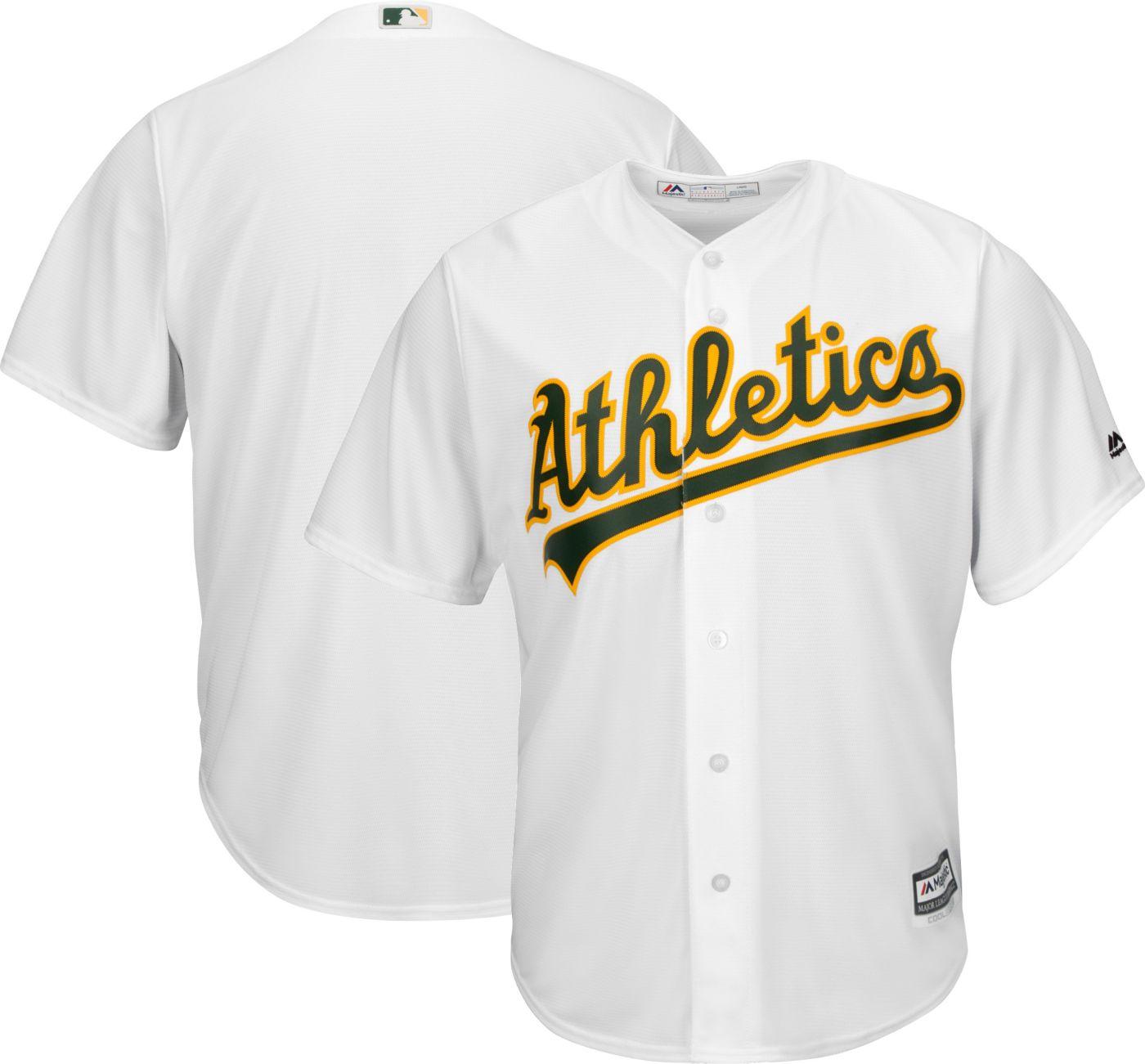 Majestic Men's Replica Oakland Athletics Cool Base Home White Jersey
