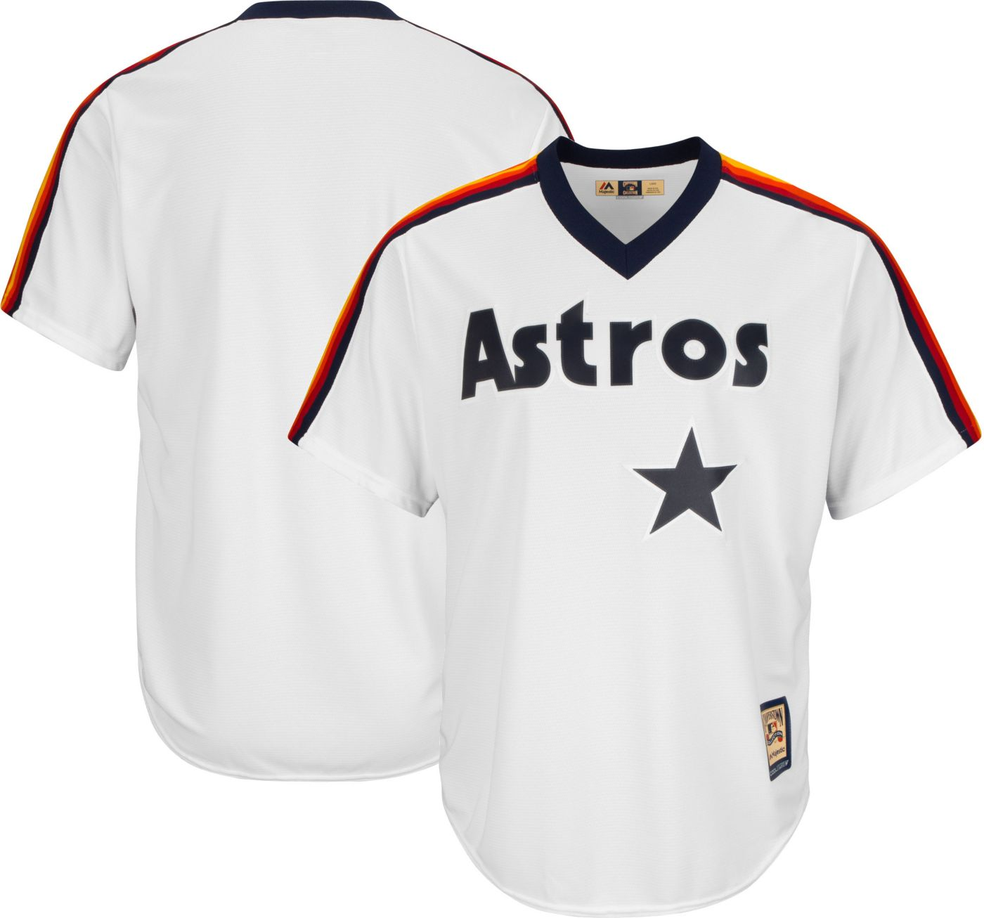 Majestic Men's Replica Houston Astros Cool Base White Cooperstown Jersey