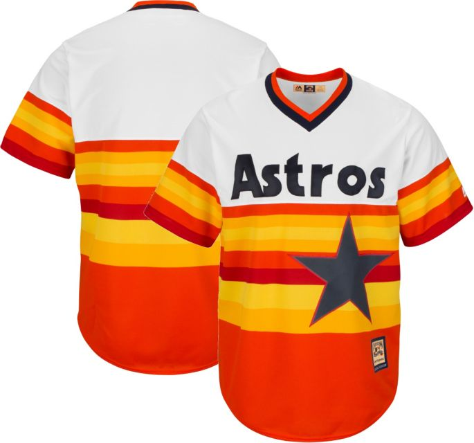size 40 b83cb 1092e Majestic Men's Replica Houston Astros Cool Base Rainbow Cooperstown Jersey