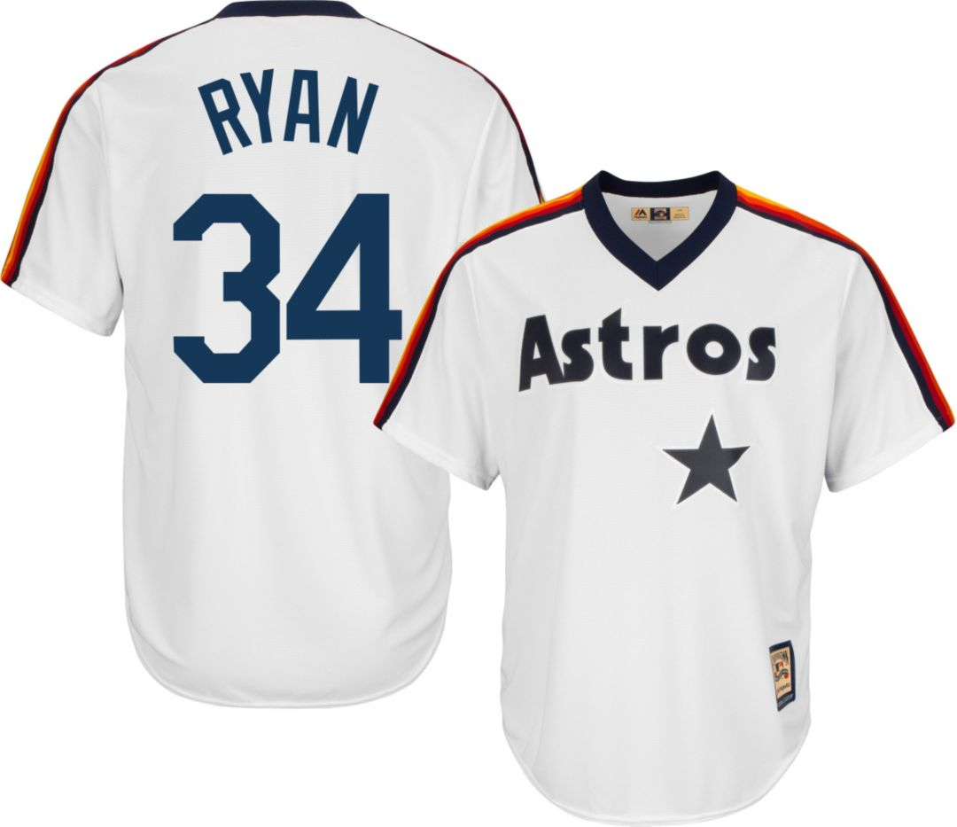 best loved 73bb3 e9603 Majestic Men's Replica Houston Astros Nolan Ryan Cool Base White  Cooperstown Jersey