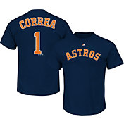 Majestic Men's Houston Astros Carlos Correa #1 Navy T-Shirt