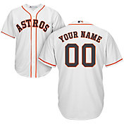 Majestic Men's Custom Cool Base Replica Houston Astros Home White Jersey