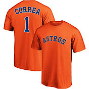 Majestic Men's Houston Astros Carlos Correa #1 Orange T-Shirt