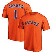 Majestic Men's Houston Astros Carlos Correa #1 Orange T-Shirt