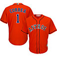Majestic Men's Replica Houston Astros Carlos Correa #1 Cool Base Alternate Orange Jersey
