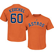Majestic Men's Houston Astros Dallas Keuchel #60 Orange T-Shirt