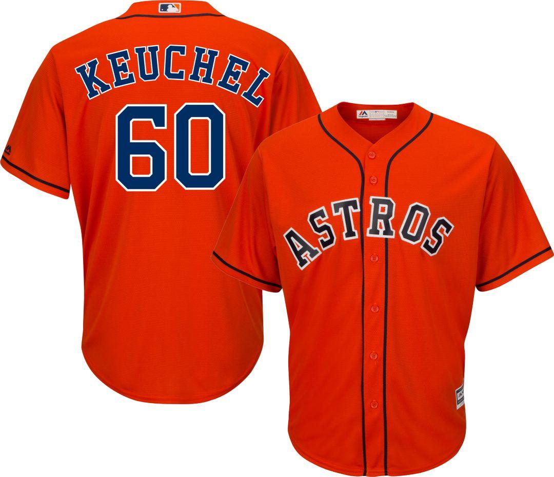best sneakers 58b9c 89855 Majestic Men's Replica Houston Astros Dallas Keuchel #60 Cool Base  Alternate Orange Jersey