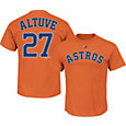 Majestic Men's Houston Astros Jose Altuve #27 Orange T-Shirt