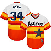 Majestic Men's Replica Houston Astros Nolan Ryan Cool Base Rainbow Cooperstown Jersey