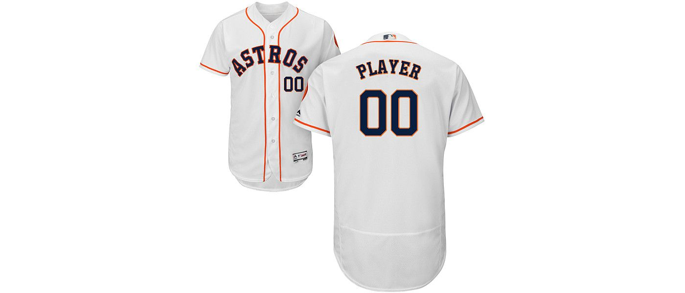 Majestic Men's Full Roster Authentic Houston Astros Flex Base Home White On-Field Jersey