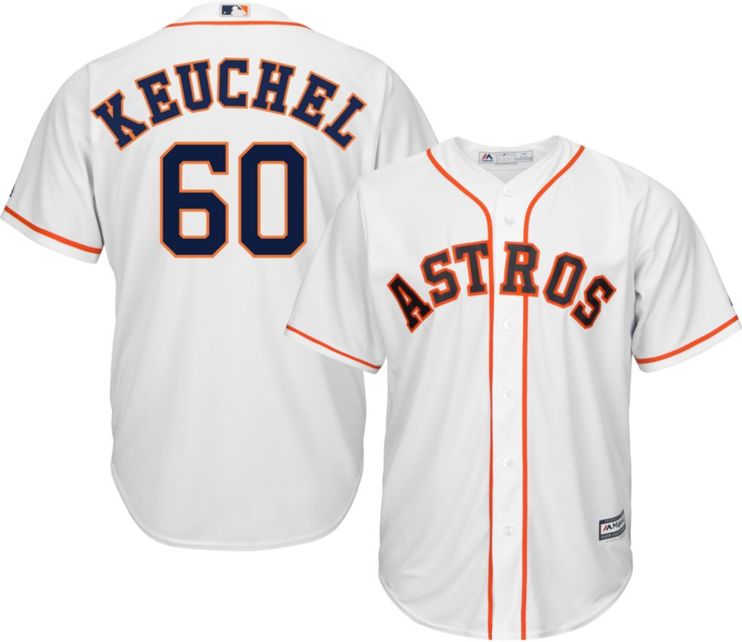 best sneakers b9f70 f7da8 Majestic Men's Replica Houston Astros Dallas Keuchel #60 Cool Base Home  White Jersey
