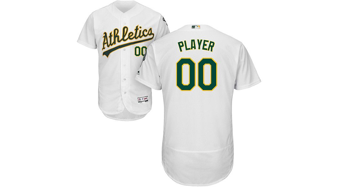 hot sale online 849a0 43c0a Majestic Men's Full Roster Authentic Oakland Athletics Flex Base Home White  On-Field Jersey