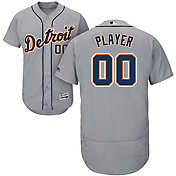 Majestic Men's Full Roster Authentic Detroit Tigers Flex Base Road Grey On-Field Jersey