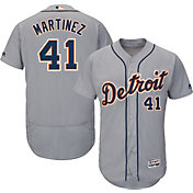 Majestic Men's Authentic Detroit Tigers Victor Martinez #41 Road Grey Flex Base On-Field Jersey