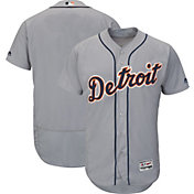 Majestic Men's Authentic Detroit Tigers Road Grey Flex Base On-Field Jersey