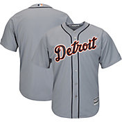 Majestic Men's Replica Detroit Tigers Cool Base Road Grey Jersey
