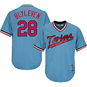 Majestic Men's Replica Minnesota Twins Bert Blyleven Cool Base Light Blue Cooperstown Jersey