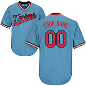 Majestic Men's Custom Cool Base Cooperstown Replica Minnesota Twins 1965 Light Blue Jersey
