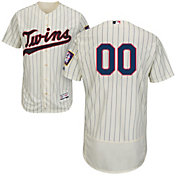 Majestic Men's Custom Authentic Minnesota Twins Flex Base Alternate Ivory On-Field Jersey