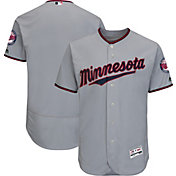 Majestic Men's Authentic Minnesota Twins Road Grey Flex Base On-Field Jersey