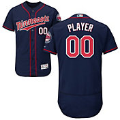 Majestic Men's Full Roster Authentic Minnesota Twins Flex Base Alternate Navy On-Field Jersey