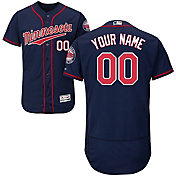 Majestic Men's Custom Authentic Minnesota Twins Flex Base Alternate Navy On-Field Jersey