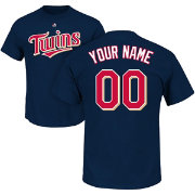 Majestic Men's Custom Minnesota Twins Navy T-Shirt