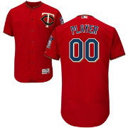 Majestic Men's Full Roster Authentic Minnesota Twins Flex Base Alternate Red On-Field Jersey