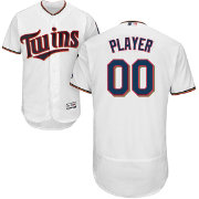 Majestic Men's Full Roster Authentic Minnesota Twins Flex Base Home White On-Field Jersey
