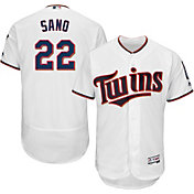 Majestic Men's Authentic Minnesota Twins Miguel Sano #22 Home White Flex Base On-Field Jersey