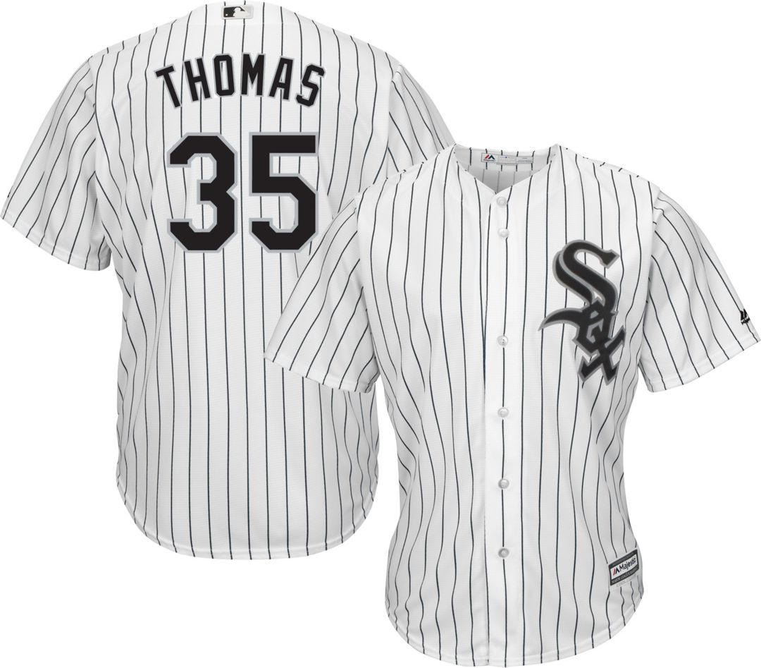 quality design 448dc d7396 Majestic Men's Replica Chicago White Sox Frank Thomas #35 Cool Base Home  White Jersey