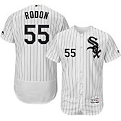 Majestic Men's Authentic Chicago White Sox Carlos Rodon #55 Home White Flex Base On-Field Jersey