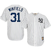 Majestic Men's Replica New York Yankees Dave Winfield Cool Base White Cooperstown Jersey