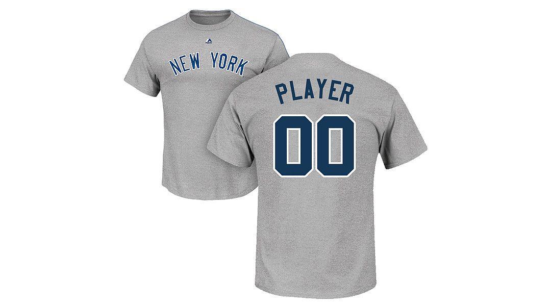 new product e3843 2cfa9 Majestic Men's Full Roster New York Yankees Grey T-Shirt