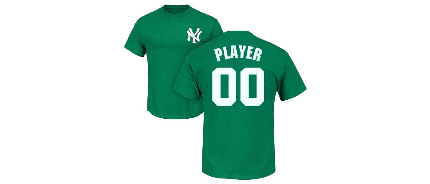 Majestic Men's Full Roster New York Yankees Green T-Shirt