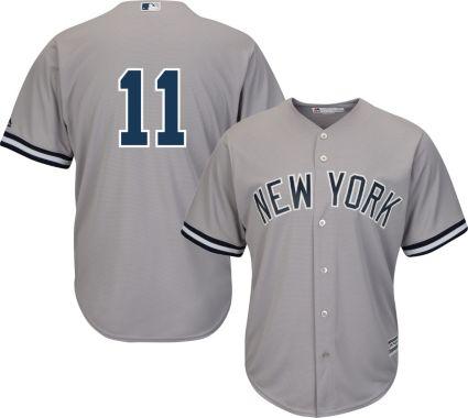 Majestic Men s Replica New York Yankees Brett Gardner  11 Cool Base ... 2e31ac1c767