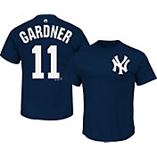 Majestic Men's New York Yankees Brett Gardner #11 Navy T-Shirt