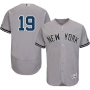 Majestic Men's Authentic New York Yankees Masahiro Tanaka #19 Road Grey Flex Base On-Field Jersey