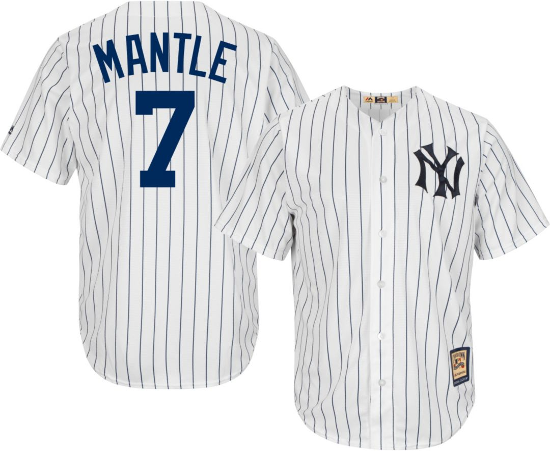 the best attitude b8953 29a0f Majestic Men's Replica New York Yankees Mickey Mantle Cool Base White  Cooperstown Jersey