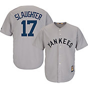 Majestic Men's Replica New York Yankees Enos Slaughter Cool Base Grey Cooperstown Jersey