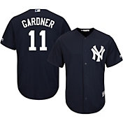 Majestic Men's Replica New York Yankees Brett Gardner #11 Cool Base Alternate Navy Jersey
