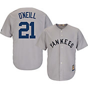 Majestic Men's Replica New York Yankees Paul O'Neill Cool Base Grey Cooperstown Jersey