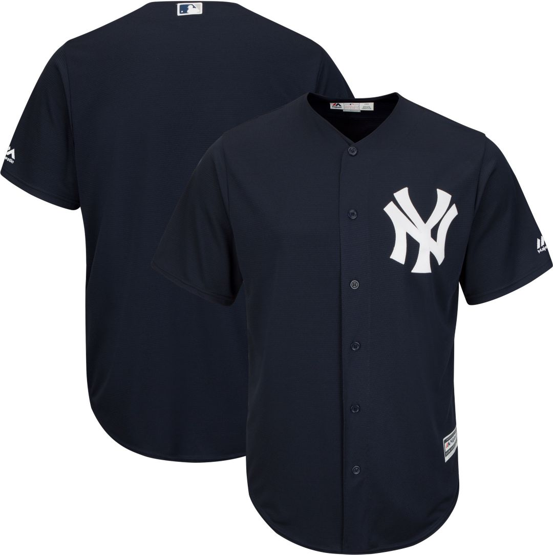 new products 700f3 9b5d3 Majestic Men's Replica New York Yankees Cool Base Alternate Navy Jersey