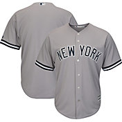 Majestic Men's Replica New York Yankees Cool Base Road Grey Jersey